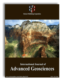 International Journal of Advanced Geosciences